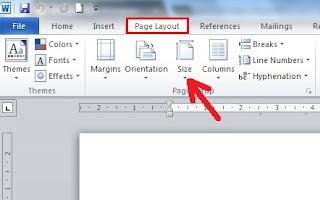 cara mengatur ukuran kertas