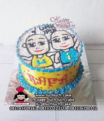 Kue Tart Ulang Tahun Upin dan Ipin