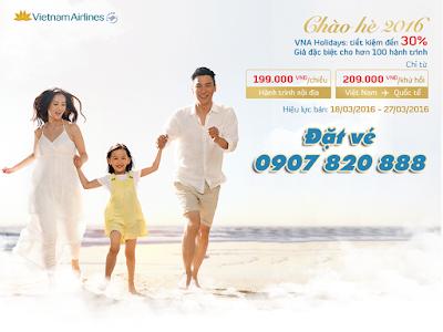 Khuyến mãi MÙA HÈ VẪY GỌI của Vietnam Airlines