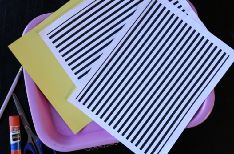 how to make easy op art for kids