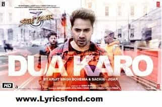 Dua Karo Lyrics – Street Dancer 3D