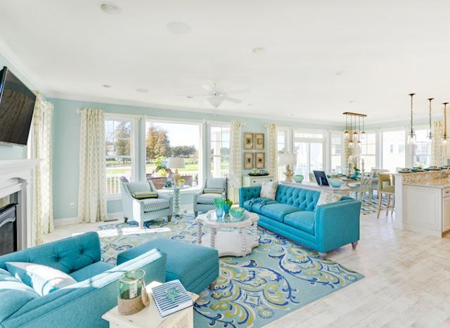 Красивый дизайн интерьера загородного дома в лучших традициях средиземноморья!