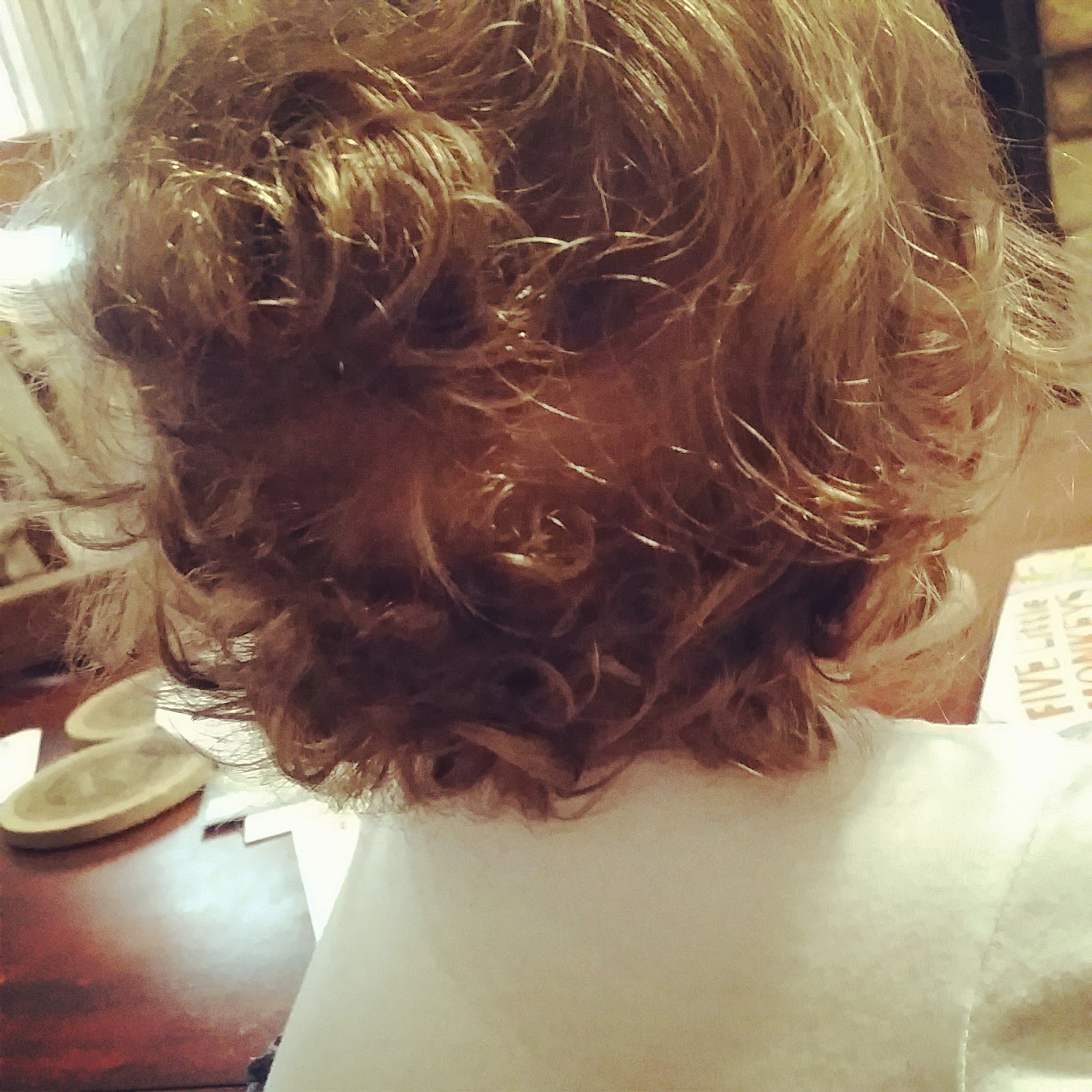 I am so thankful for each and every curl on that sweet head
