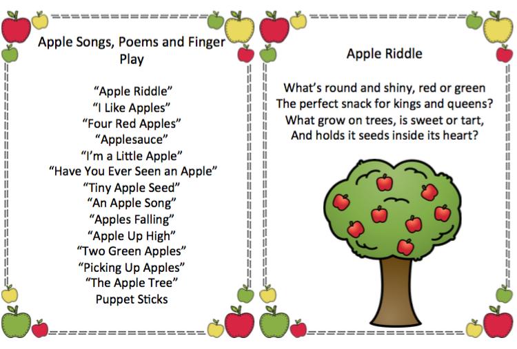 apple songs preschool apple songs poems and finger play updated preschool 239
