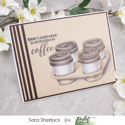Picket Fence Studios October Release Card: Sponsored by Coffee Stamp, Prismacolor Pencils