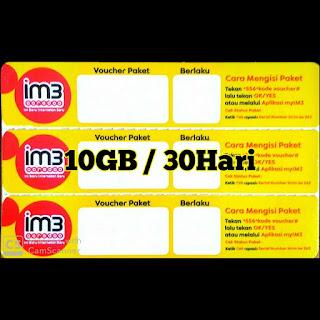 Data Im3 10GB/30HARI