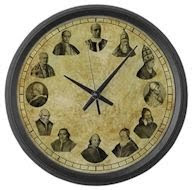 Pope Pius Wall Clock
