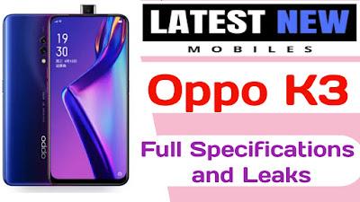 OPPO K3 full specifications