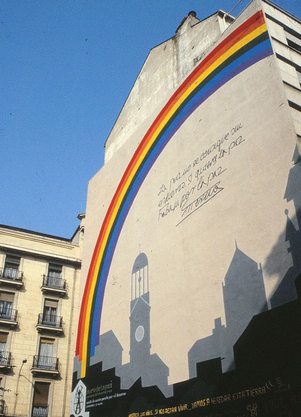 Medianería en Madrid. Tierno Galván. Foto: Rodrigo L. Alonso