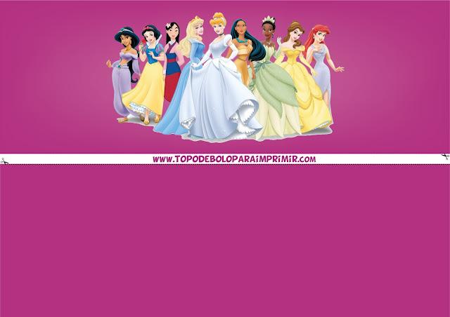faixa lateral princesas da disney
