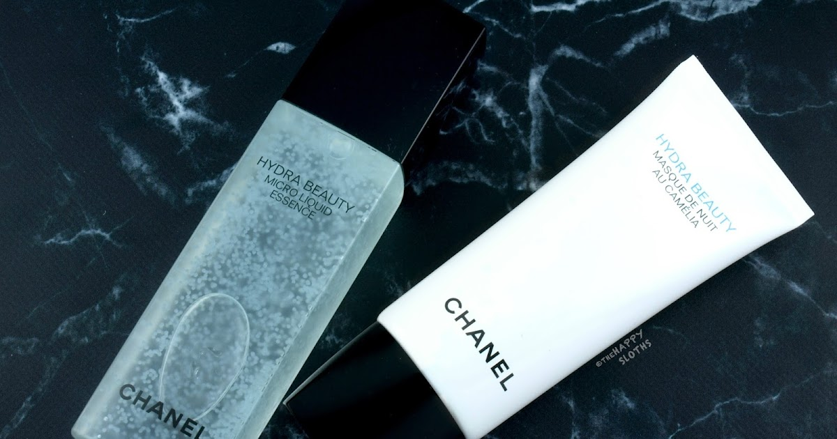 chanel hydra beauty micro liquid essence masque de nuit au cam lia review the happy. Black Bedroom Furniture Sets. Home Design Ideas