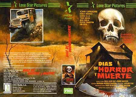 Dias de Horror y Muerte, Portada VHS