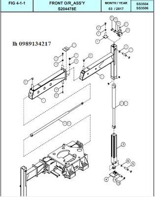 Xy lanh nâng hạ và ra vào chân trước Dong Yang 15 tấn SS3504-SS3506-SS3506M