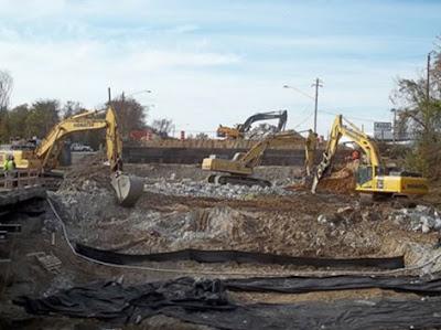 kegiatan konstruksi tambang dan penggalian tanah