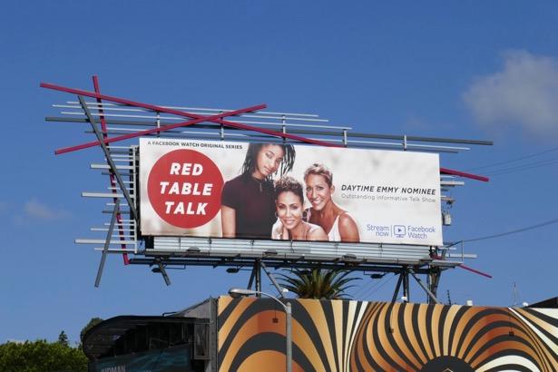 Red Table Talk 2019 Daytime Emmy Nominee billboard