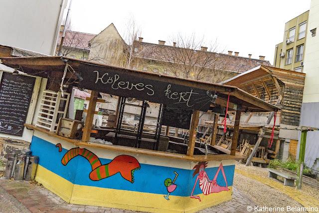 Kőleves Kert Ruin Bar Budapest Hungary