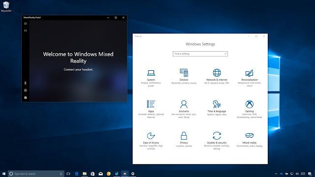 """كيفية الوصول إلى إعدادات """"الواقع مختلط"""" على ويندوز 10"""