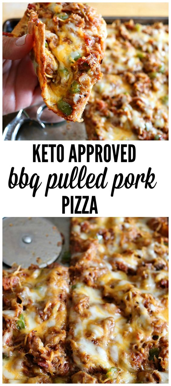 ★★★★☆ 7180 ratings     | KETO FATHEAD PIZZA- BBQ PULLED PORK #KETO #FATHEAD #PIZZA #BBQ #PULLED #PORK