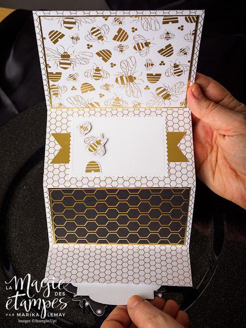 Carte à pliage original Stampin' Up! fait avec le papier Miel doré