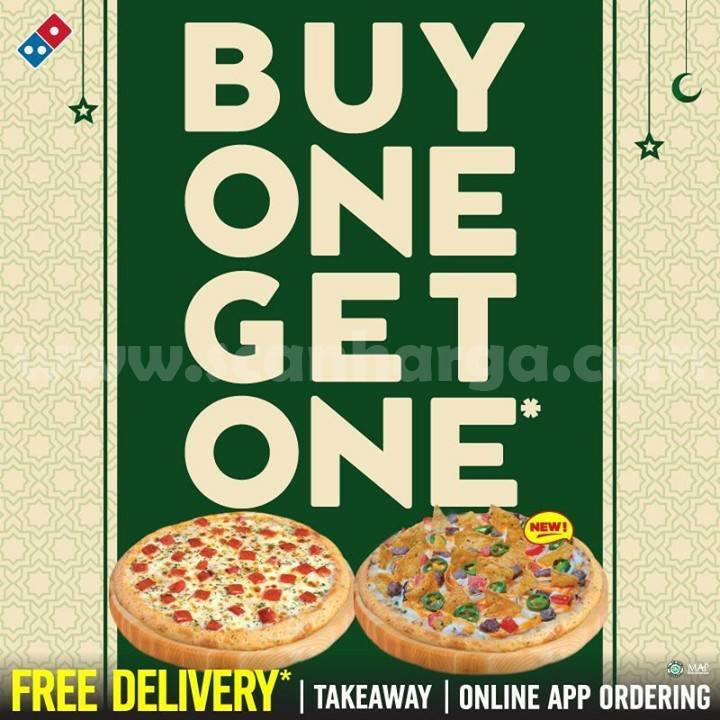 Dominos Pizza Promo Buy 1 Get 1 FREE Pizza