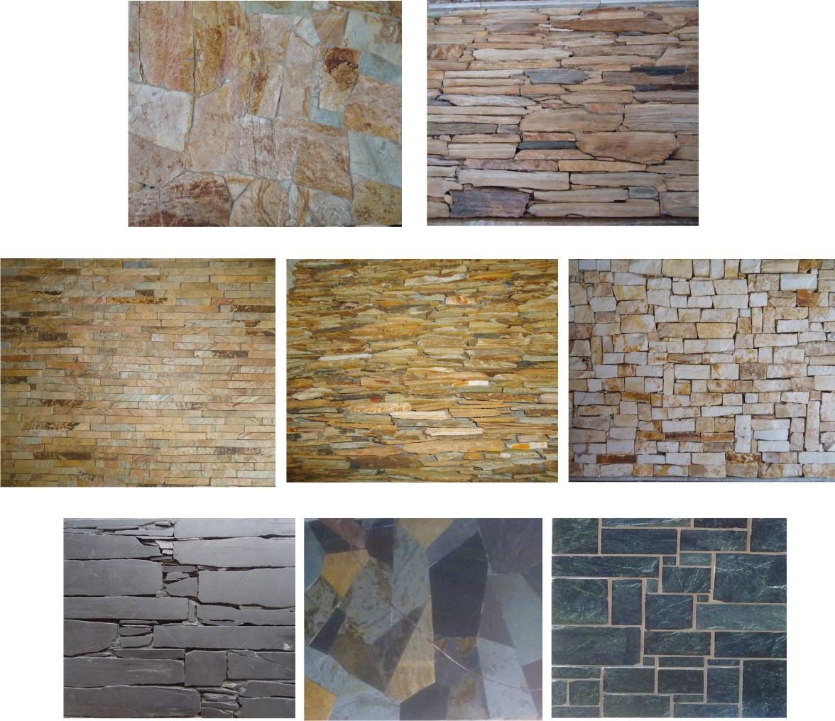Piedras y enchapes for Tipos de piedras para paredes exteriores