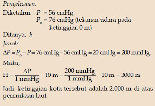 Soal Tekanan pada Gas dalam Ruang Terbuka 1