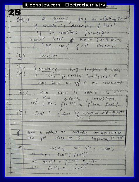 Electrochemistry Notes12