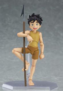 Conan in posa con il suo arpione