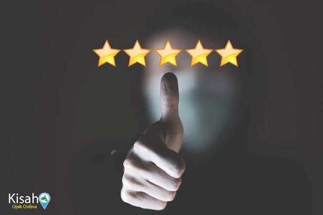 Kira-Kira Untuk Alasan Apa Kalian Memberikan Bintang Atau Rating Kepada Driver Ojek Online?