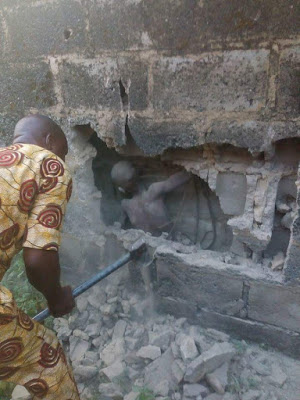 boy buried alive brick walls akure ondo state
