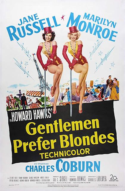 Póster película Los caballeros las prefieren rubias