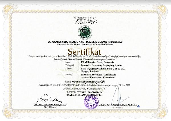 legalitas MCI sudah memenuhi prinsip syariah dari Dewan Syariah Nasional