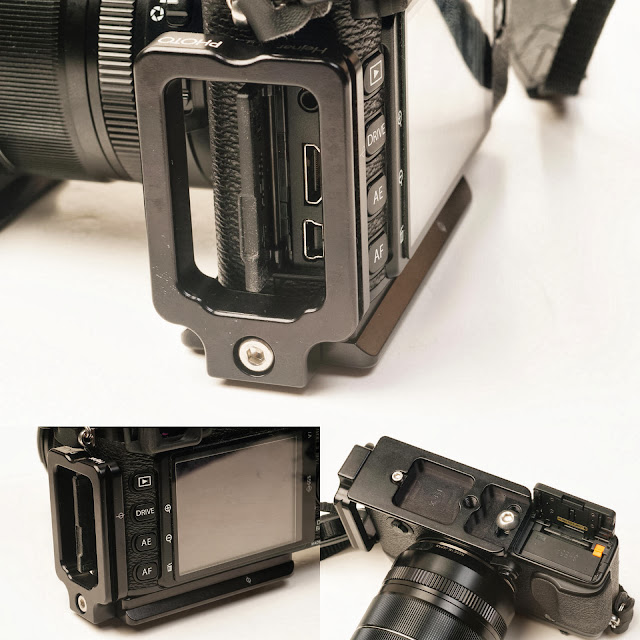 Hejnar Photo Modular L Bracket for Fuji X-E1 on camera