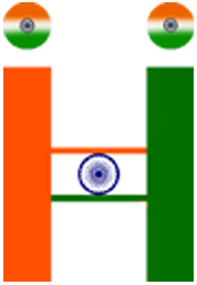 in Hindi INDIA logo Make by Yogendra Dhirhe