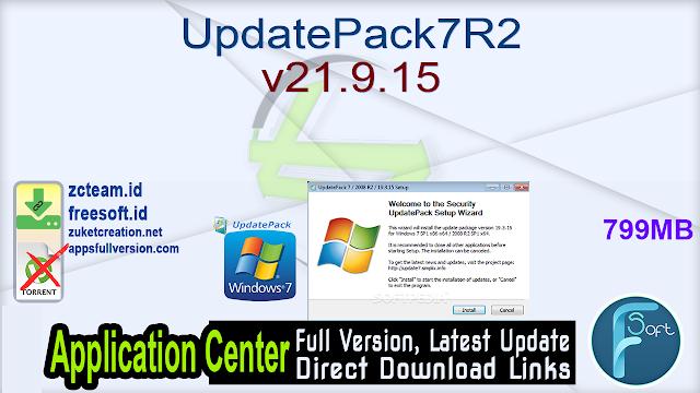 UpdatePack7R2 v21.9.15
