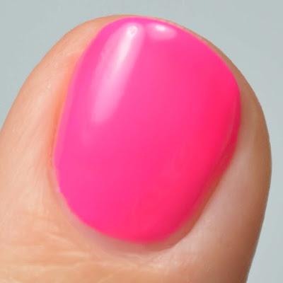 matte neon fuchia nail polish swatch