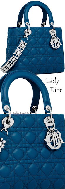 Lady Dior bag in poseidon blue lambskin #brilliantluxury
