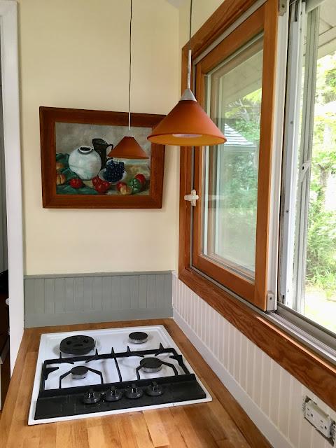 cottage kitchen paint test wall