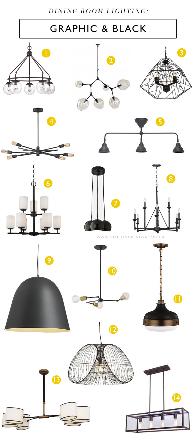 graphic black dining room lighting chandelier