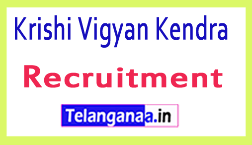 Krishi Vigyan Kendra KVK Recruitment