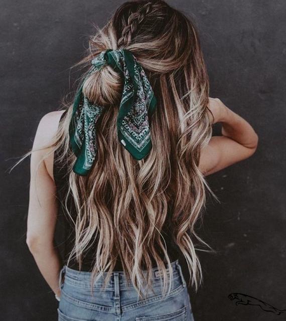 peinados con chongo y pelo suelto