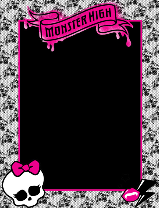Monster high bordes decorativos de hojas de monster high - Dibujos decorativos para imprimir ...