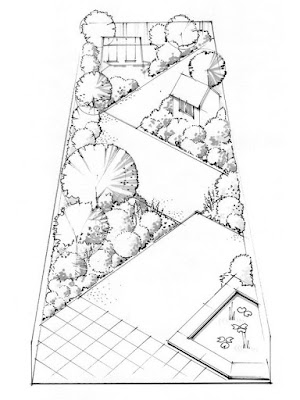 gradina ingusta, idei amenjare gradina, desen proiect peisagistica, gratis, idei amenajare curte, sfaturi amenajare gradina moderna, spatiu mic