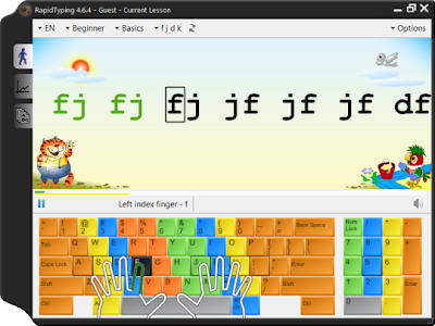 Free Software Download Encyclopedia: Rapid Typing Tutor 4.6.5