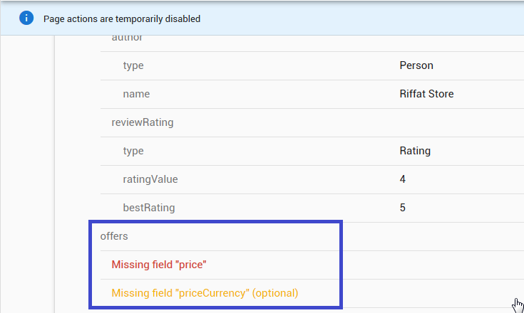 Cara Memperbaiki Error Missing field price dan Missing field priceCurrency di Google Webmasters Tools