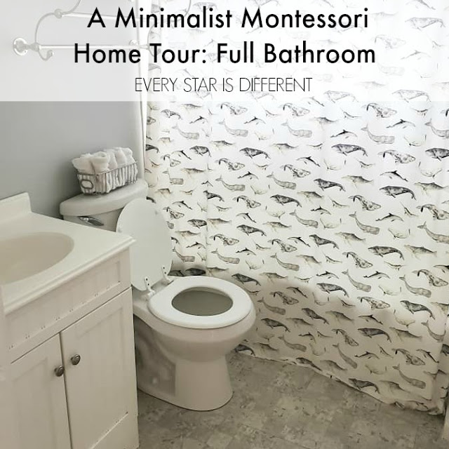 A Minimalist Montessori Home Tour: The Full Bathroom