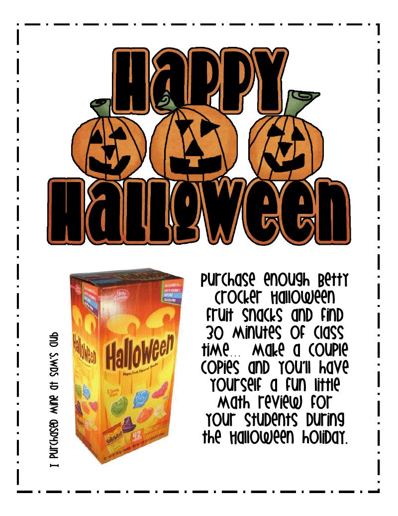 halloween freebie first grade