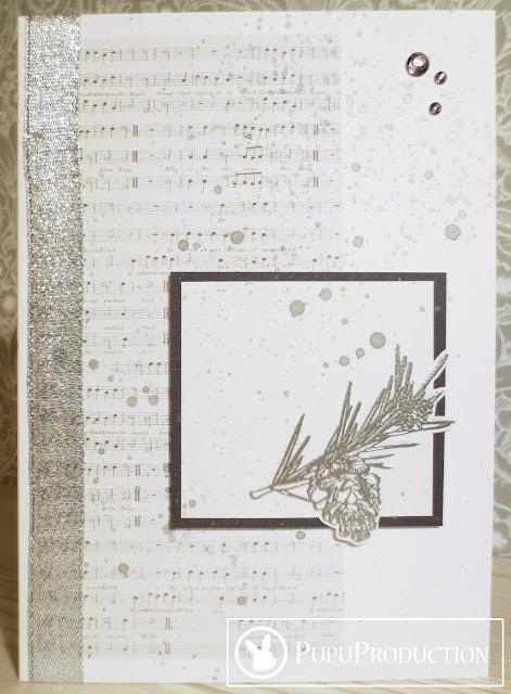 Craft challenge bingo: book page - coniferous - silver