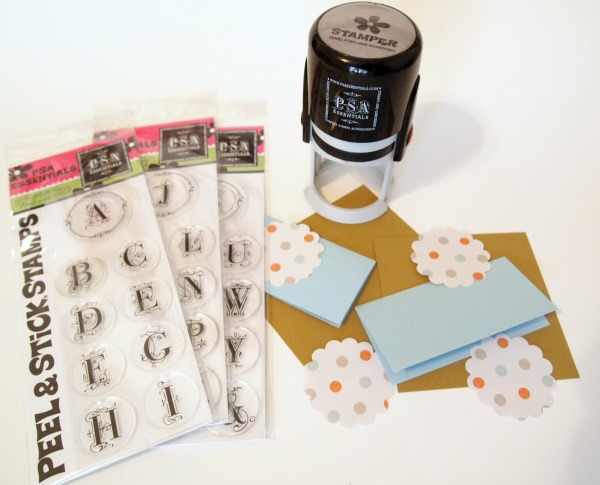PSA Essentials supplies to make place cards for your next Thanksgiving dinner.