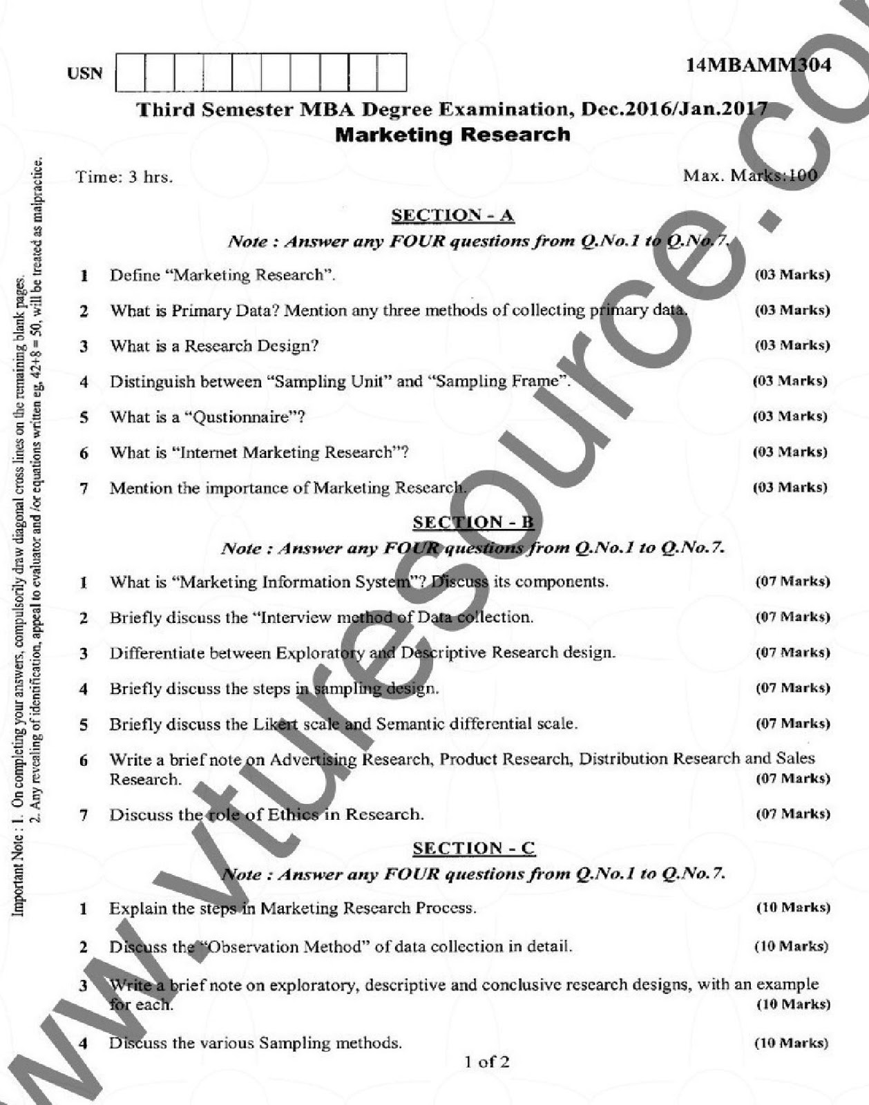 VTU Question Paper – Page 2 – VTU Syllabus